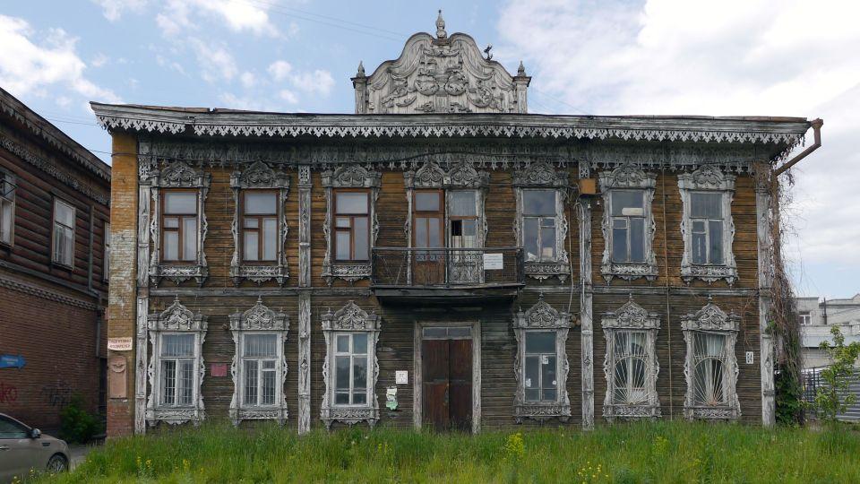 Здание аптеки Крюгера на ул. Пушкина, 64 до реставрации