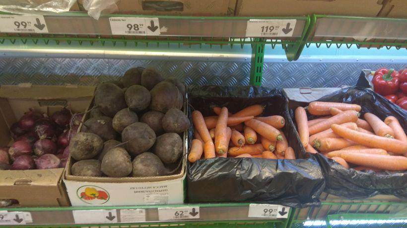 """Цены на овощи в """"Пятерочке"""" Фото:""""Толк"""""""