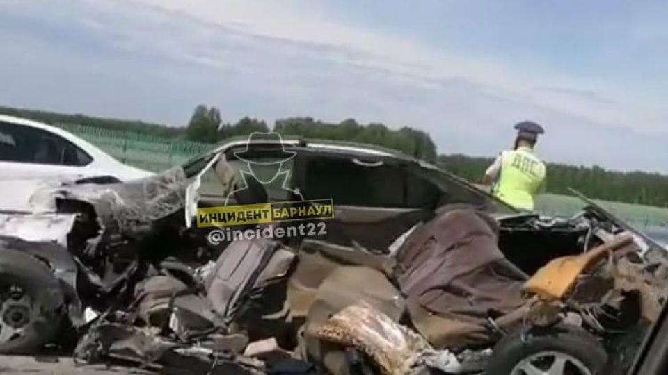 Авария на трассе Барнаул-Бийск