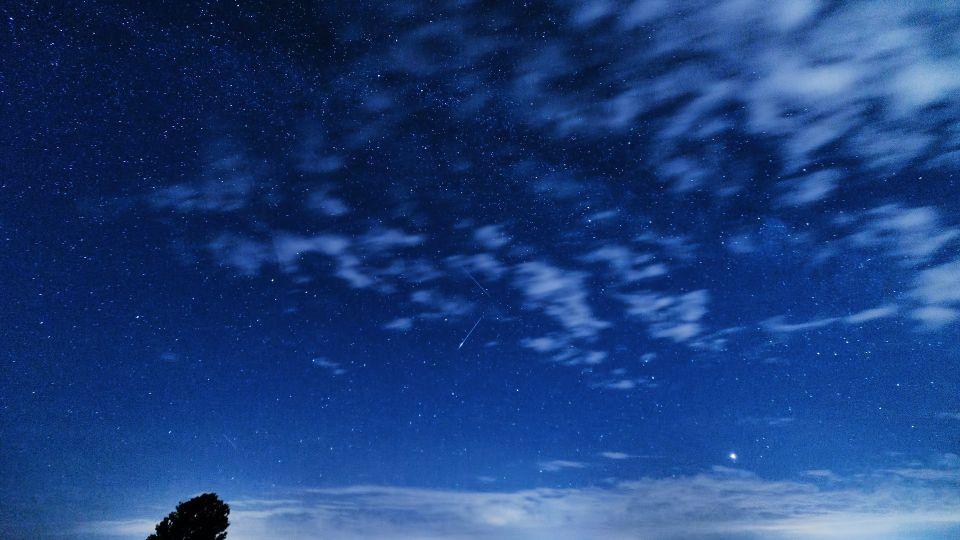 Метеоры в небе