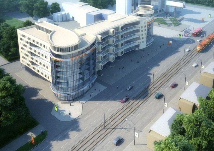Старый проект бизнес-центра на ул. Пролетарской, 125 Фото:Александр Деринг
