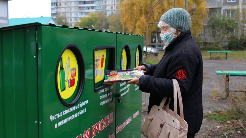 Контейнеры для раздельного сбора мусора в Бийске