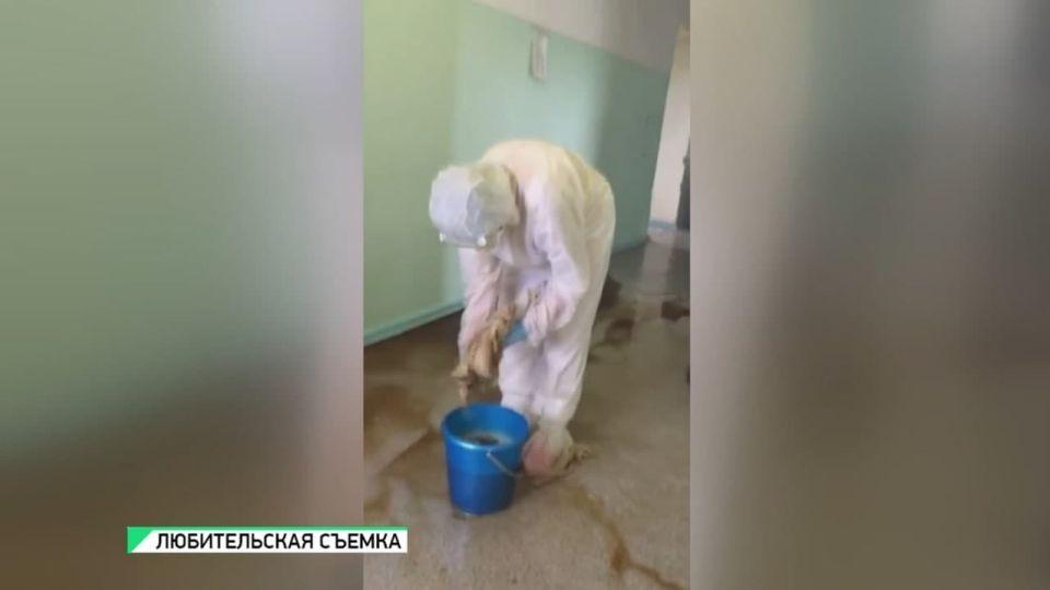 Ковидный госпиталь в Бийском районе затопило после дождя