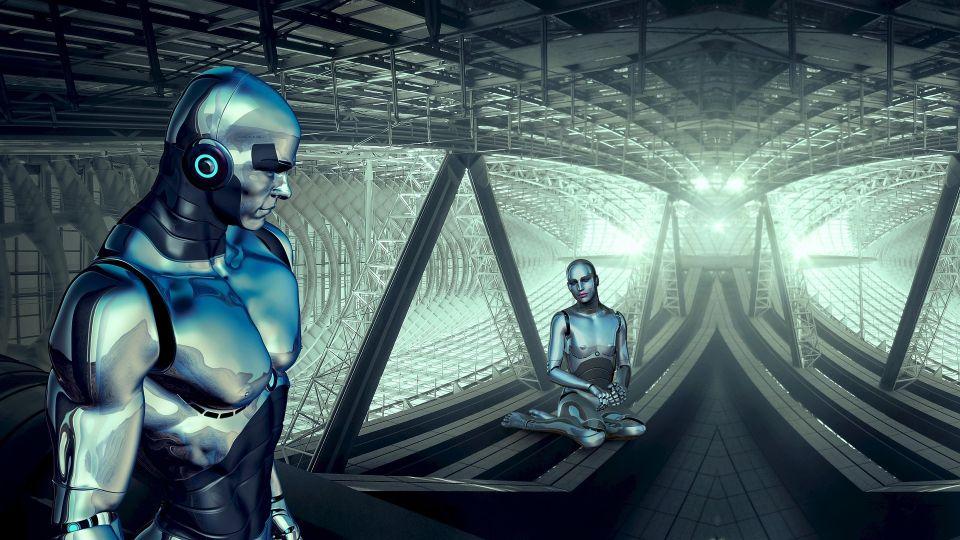 Робот. Фантастика.