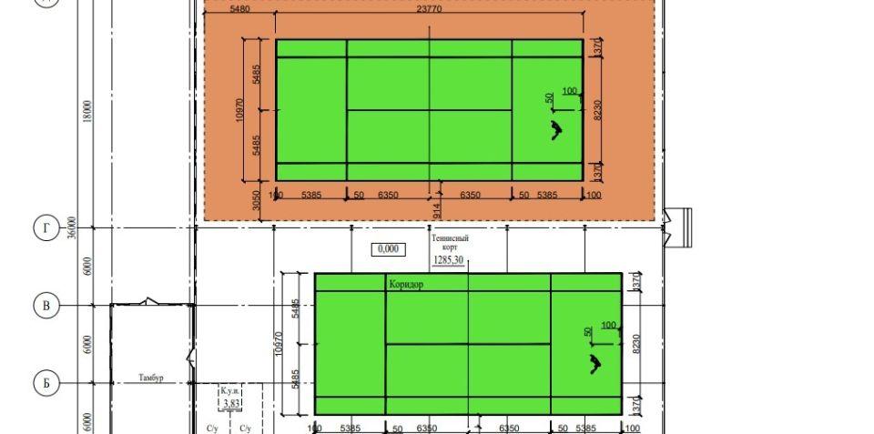 Проект теннисного корта на ул. Геодезической, 113