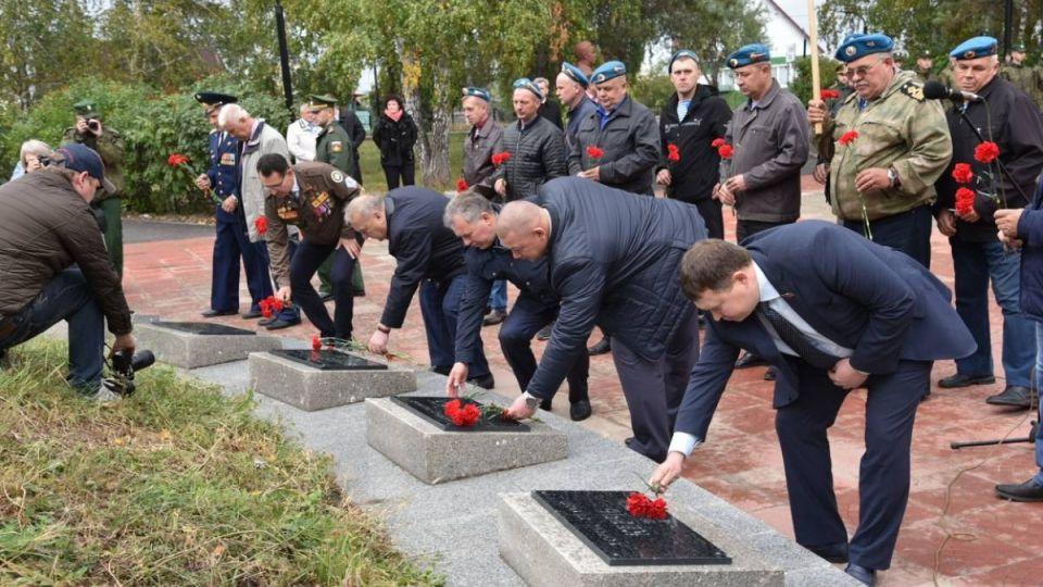 Открытие мемориала в Камне-на-Оби
