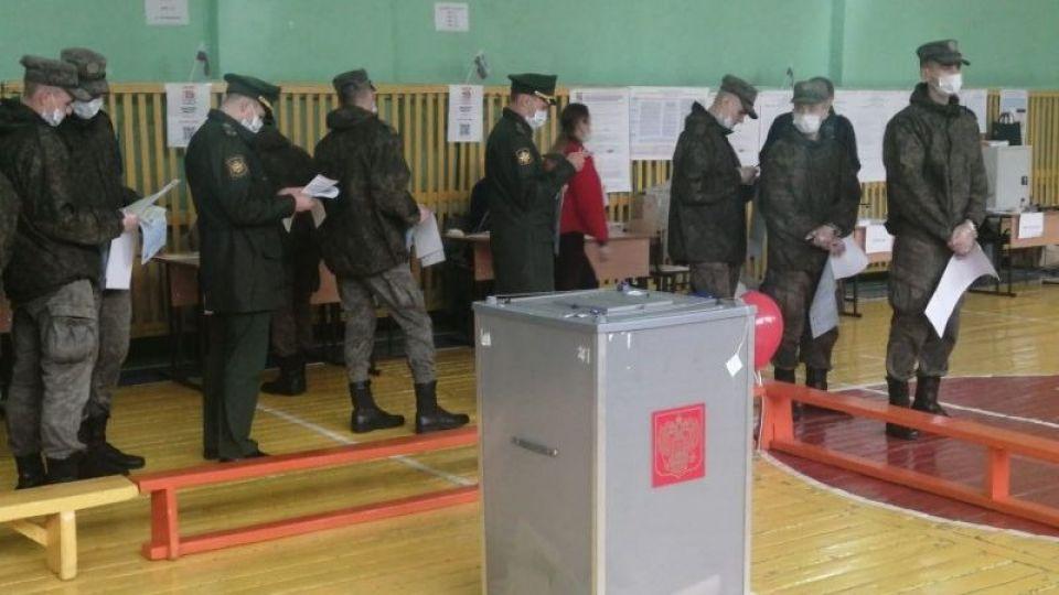 Очереди на избирательных участках