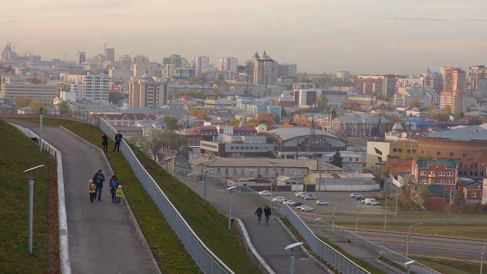 Барнаул. Нагорный парк. Смотровая площадка
