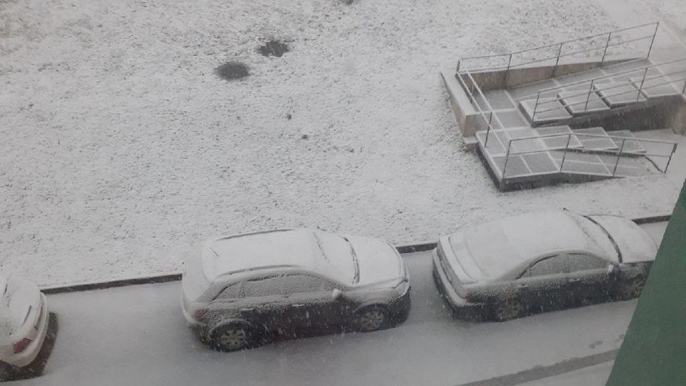 Снег в Кемерово