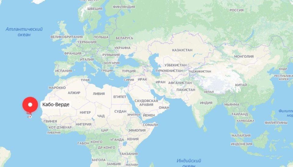 Кабо-Верде на карте