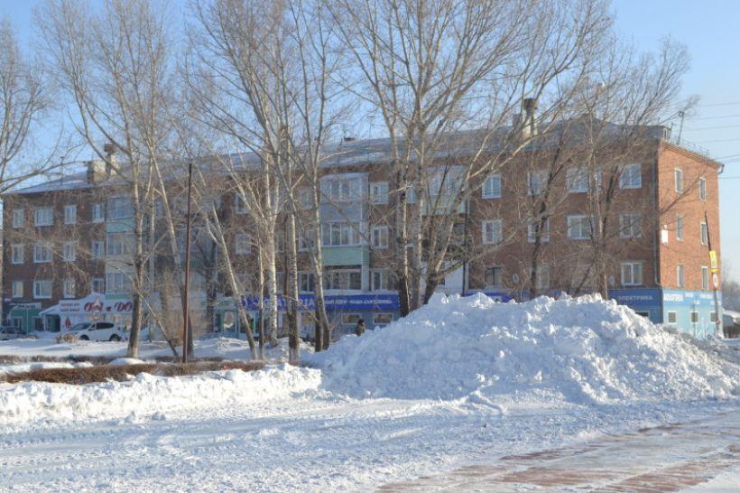 В центре Горняка снега не так уж и много Фото:Алексей Кучерявых