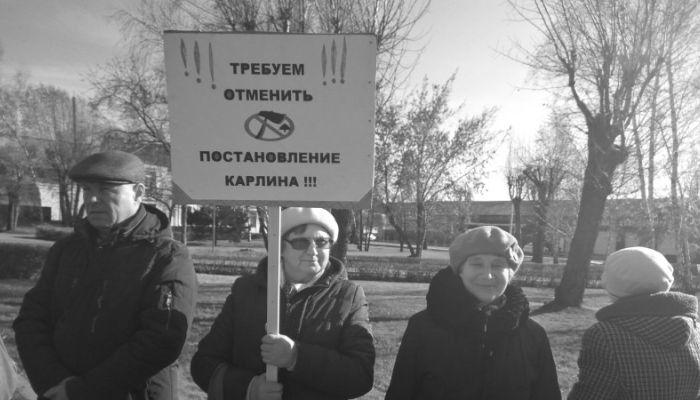 Пикет против вырубки алтайского леса прошел 24 октября в Барнауле