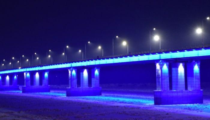 Как изменилось освещение на Новом мосту через Обь в Барнауле