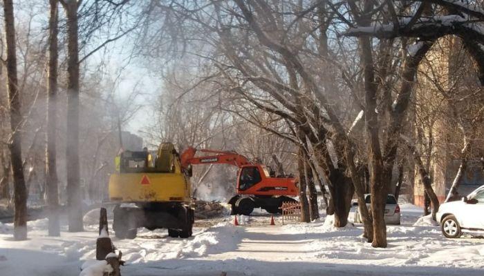 Коммунальная авария произошла на улице Горно-Алтайской в Барнауле