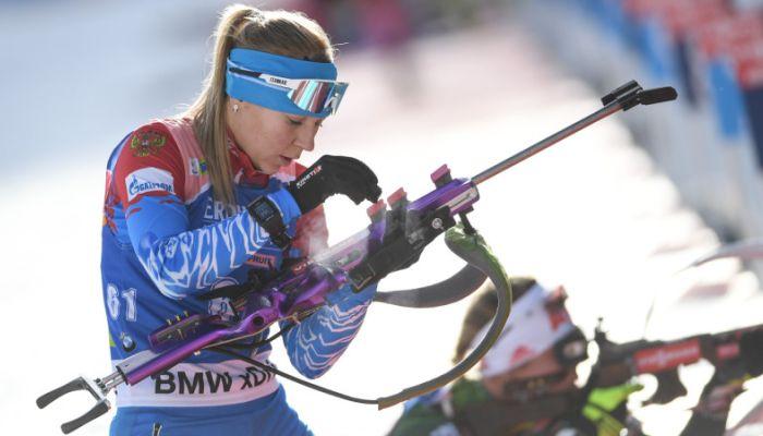 Сборная России по биатлону выиграла женскую эстафету в Оберхофе