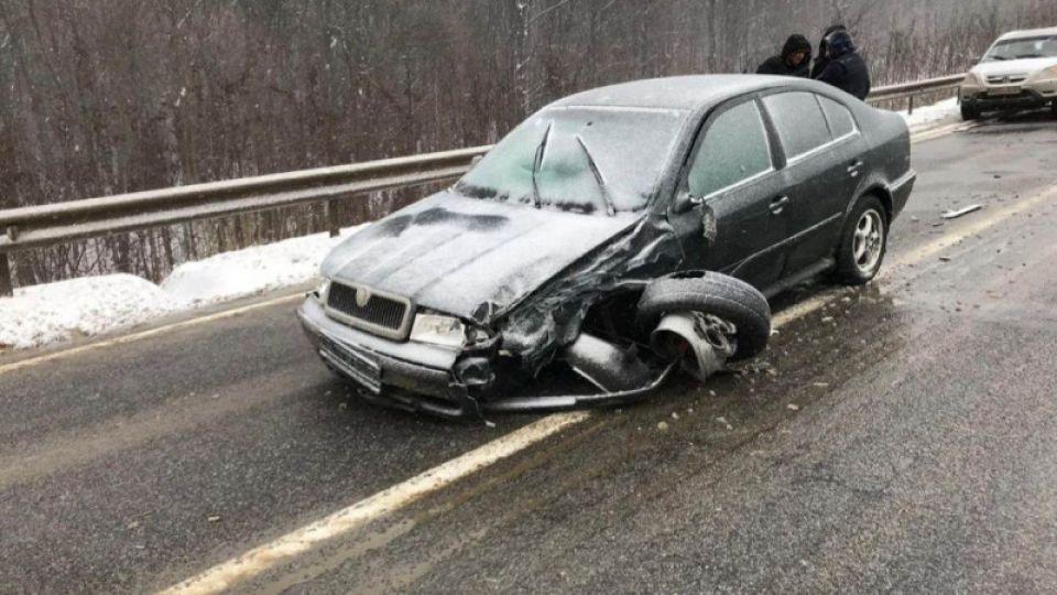 Появилось видео аварии с кортежем президента Молдавии