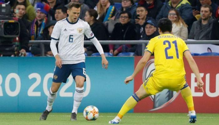 Россия разгромила Казахстан в отборочном матче на Евро-2020