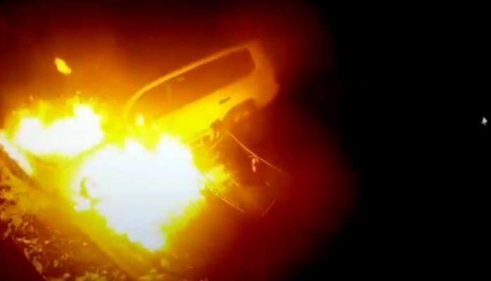 Поджигатель автомобилей в Бийске попал на видео