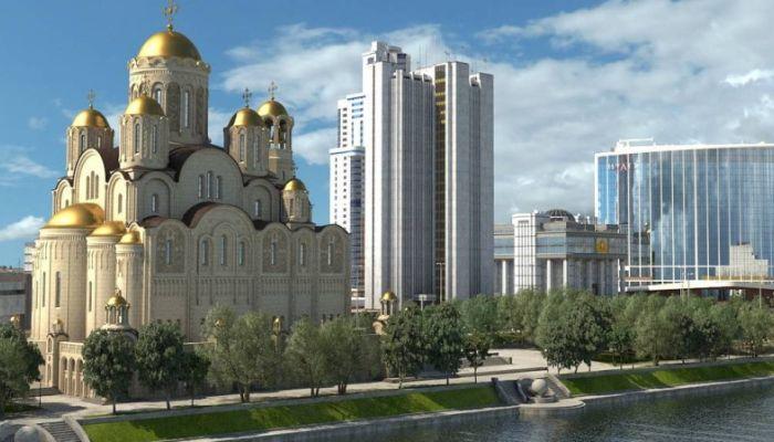 ВЦИОМ: половина жителей Екатеринбурга - за возведение храма, но в другом месте
