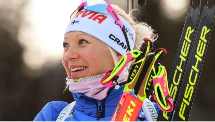 Мякяряйнен победила в биатлонном масс-старте на этапе Кубка мира в Оберхофе