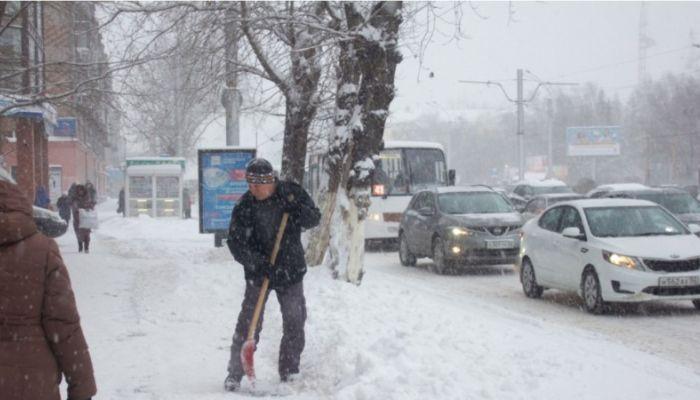 Режим повышенной готовности введен в Алтайском крае из-за снежного шторма