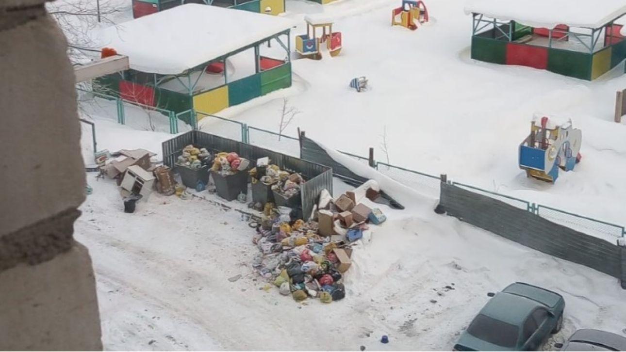 Жильцы трех многоквартирных домов в Новоалтайске не могут поделить мусорку