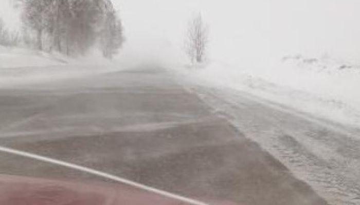 Нулевая видимость и переметы: водители показали обстановку на алтайских трассах