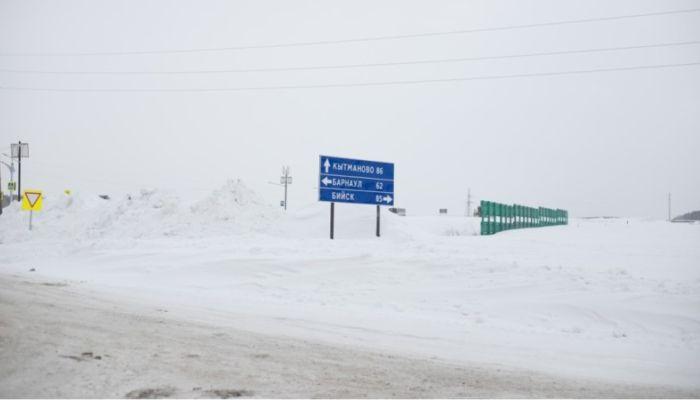 Днем 16 и ночью 17 марта перекроют участки трассы Барнаул – Бийск