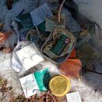 В лесу под Барнаулом нашли огромную свалку с остатками чьей-то трапезы