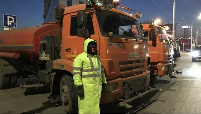 Барнаул продолжают дезинфицировать: какие улицы обработают в ночь на 14 апреля