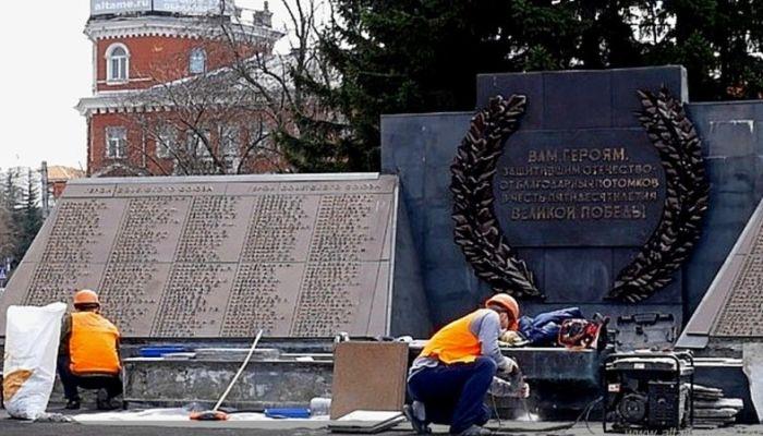 В Барнауле готовят памятники к юбилею Победы
