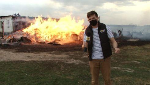 Сгорела почти вся деревня: пожар уничтожил дома в алтайском селе