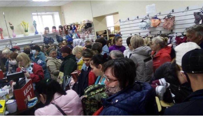 Полиция заинтересовалась новостью о давке в магазине Рубцовска во время изоляции
