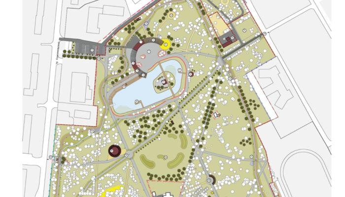 Как будет выглядеть обновленный барнаульский парк Изумрудный. Карта