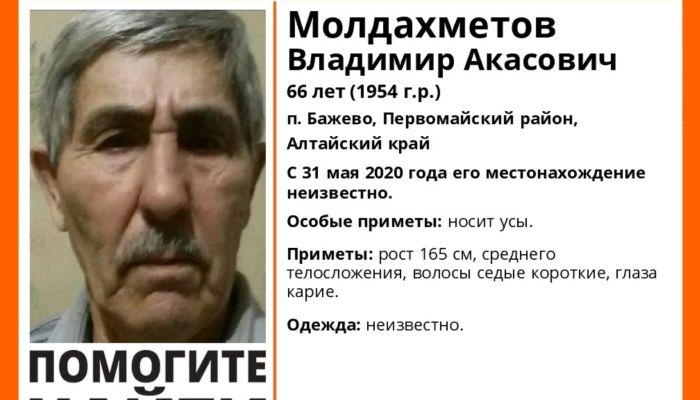 Пожилого мужчину с усами ищут волонтеры в Алтайском крае