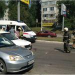Машина такси сбила женщину на пешеходнике в Бийске