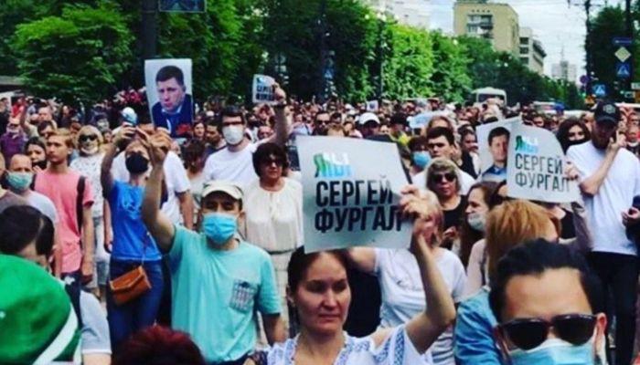 В Хабаровске второй день проходят митинги в поддержку арестованного губернатора