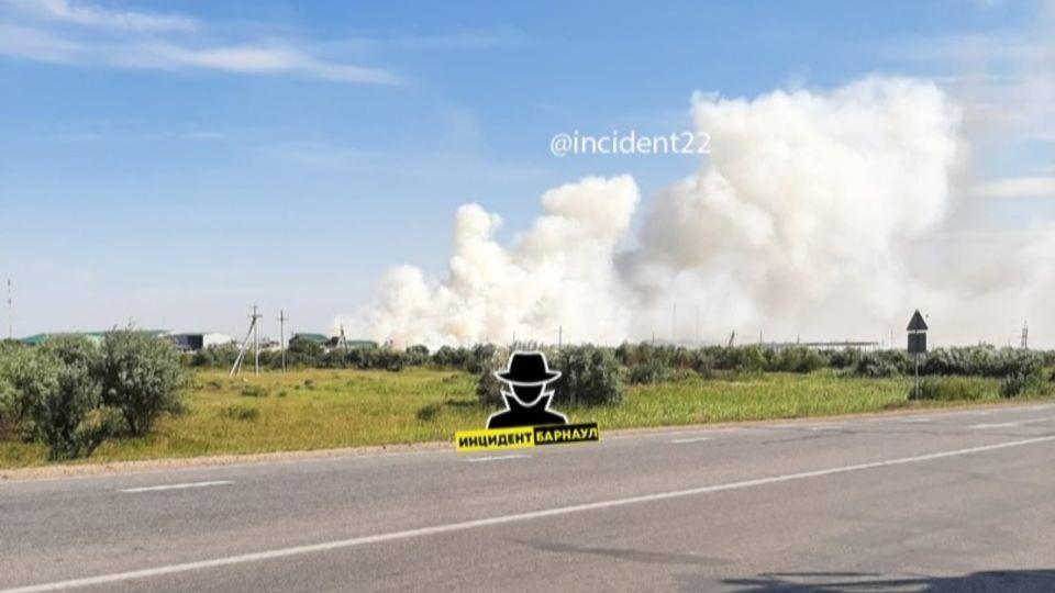 На рубцовском лесоперерабатывающем заводе произошел пожар