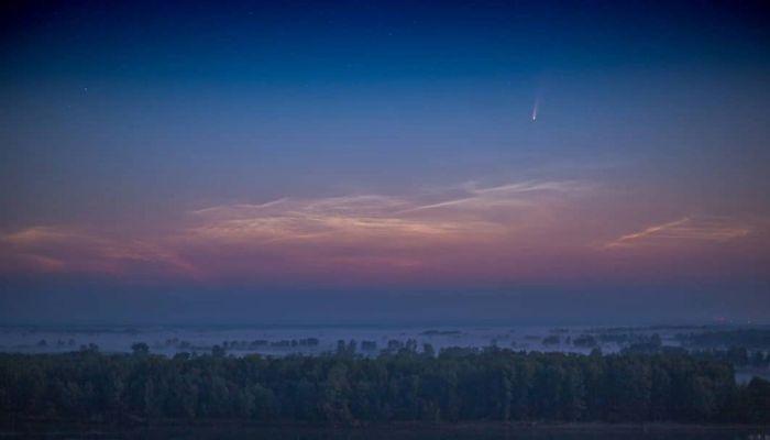 Фотографу из Барнаула удалось запечатлеть восход Юпитера на Алтае