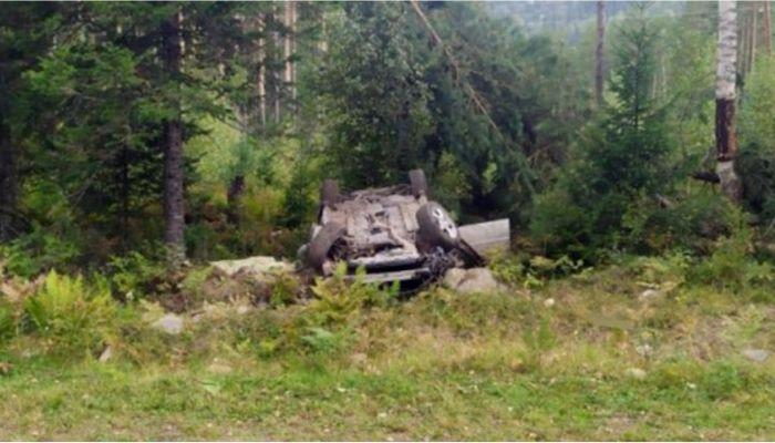 Житель Республики Алтай разбился на угнанном автомобиле
