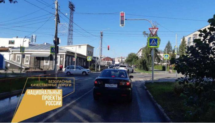 Два новых светофора установили в центре Барнаула