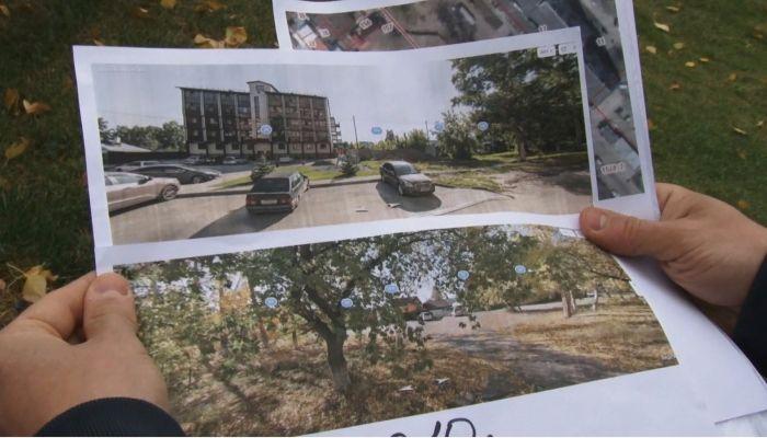 Барнаульцы возмущены вырубкой зеленой аллеи ради очередной парковки