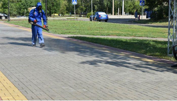 Площадки для празднования Дня города продезинфицируют в Барнауле