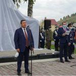 В Парке Победы в Горно-Алтайске установили новый памятник воинам-землякам