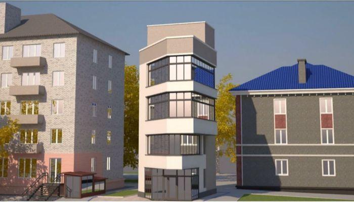 Небольшое здание-башню хотят построить в центре Барнаула