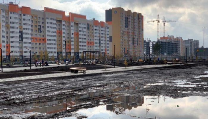 Не сесть в лужу: есть или нет озеро у нового сквера в Барнауле