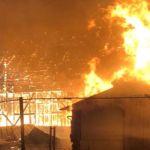 Жилой дом дотла сгорел минувшей ночью под Барнаулом