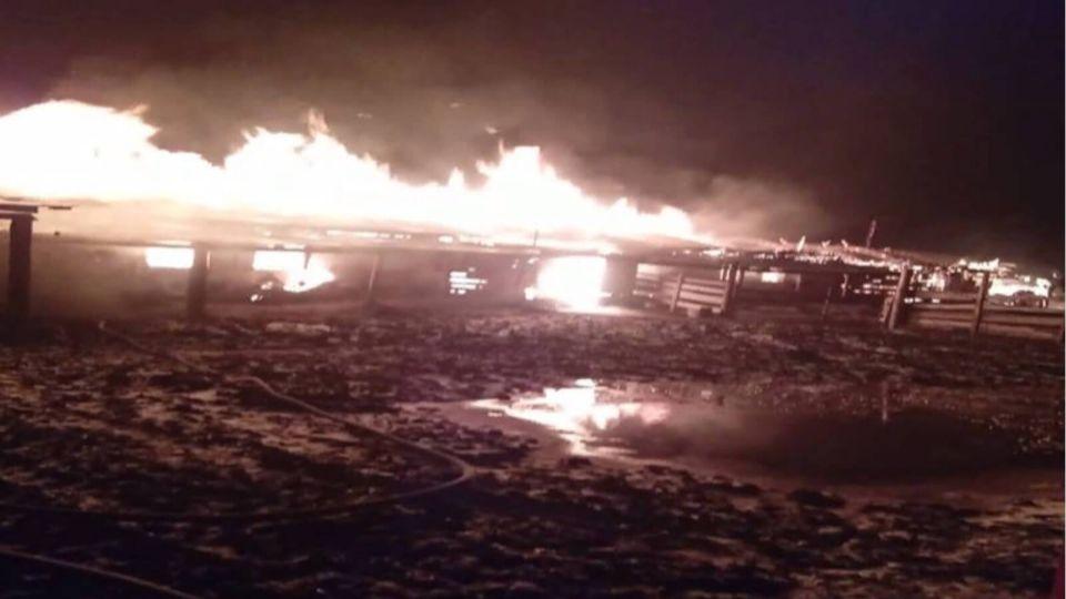 Женщина погибла во время пожара в алтайском селе Ключи