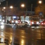 В Барнауле из-за ДТП на трамвайных путях встало движение