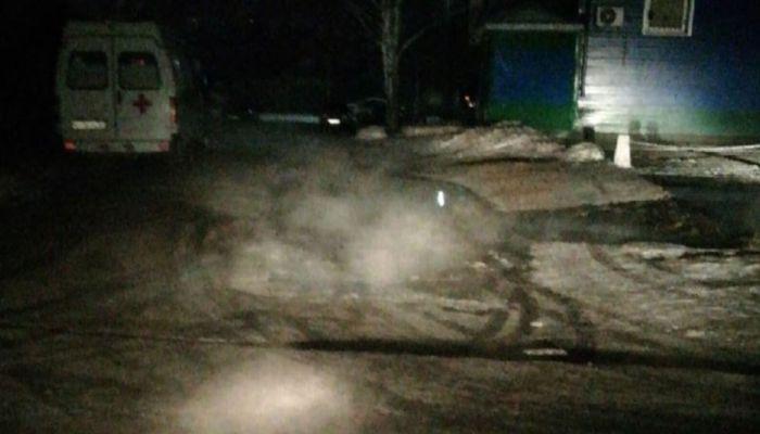 В Барнауле возле станции скорой помощи потекли реки с кипятком